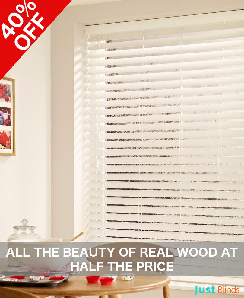 Faux wood blind offer
