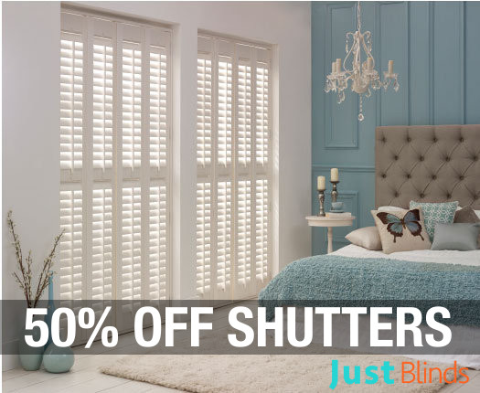 50% off Internal shutter blinds
