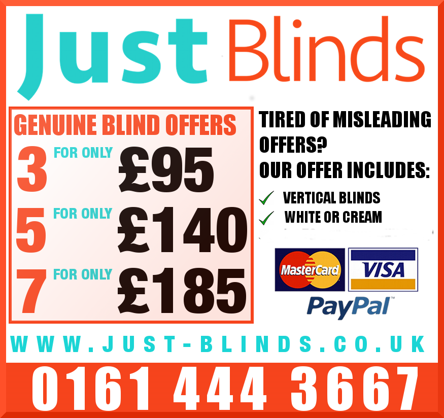 Typical Just Blinds Advert