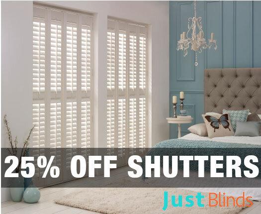 25% off shutter blinds